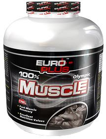 Гейнер Euro Plus Olympic Muscle, 640 г, банка: цена в Киеве