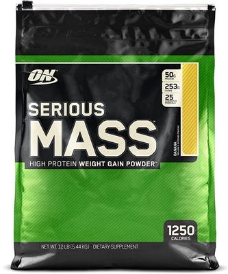 Гейнер Optimum Nutrition Serious Mass, банан, 5,45 кг: цена в Киеве